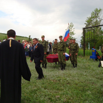 Перезахоронение останков красноармейца-земляка саликова 22 июня 2011 года Часть 2